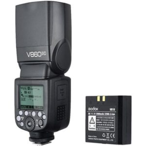 Godox-V860IIC-fully-support TTL Functions with Canon EOS cameras and-is-compatible-with-E-TTL-II-autoflash