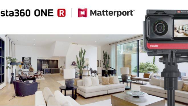 Insta360 ONE R saab nüüd salvestada Matterporti virtuaaltuure