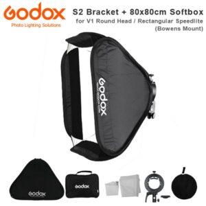 Godox-SGUV8080-S2-type-bracket+80*80cm-softbox+bag