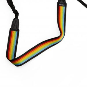 Polaroid-Camera-Strap-Flat-Rainbow-Black
