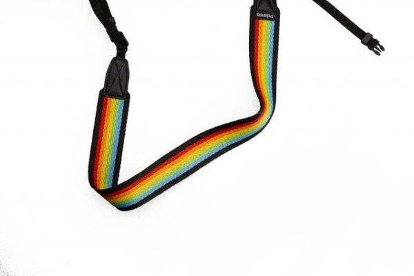 Polaroid-Camera-Strap-Flat-Rainbow-Black