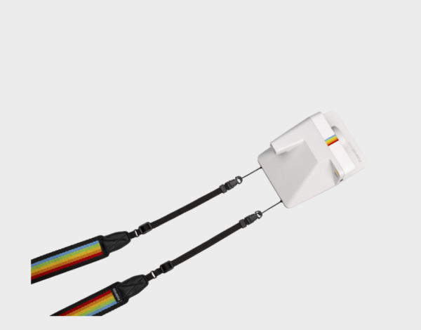 Polaroid Camera Strap Flat Rainbow Black
